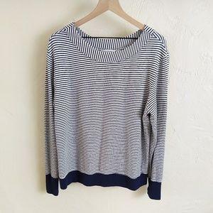 Athleta Studio Striped Boatneck Sweatshirt Large